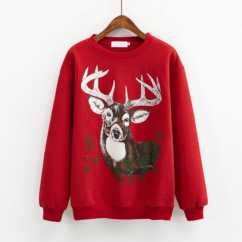クリスマス鹿柄 レッド クリスマスコスプレ衣装