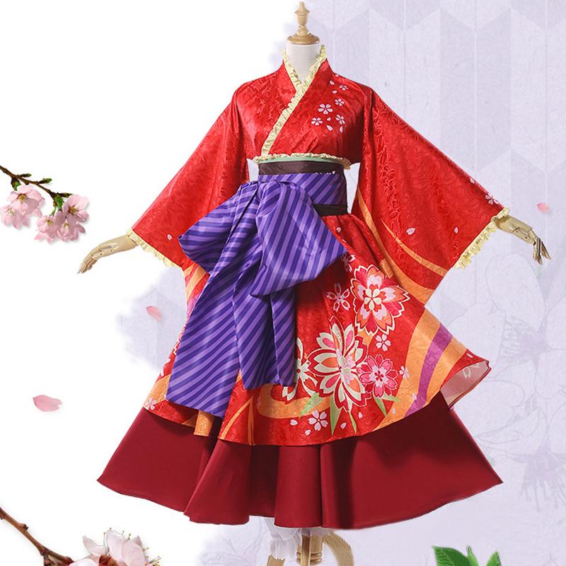 神楽着物 桜プリント コスプレ衣装