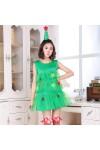 クリスマスツリー ドレス クリスマス新品  ノースリーブ レディース クリスマスコスチューム 2点セット