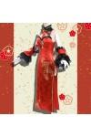 【予約商品】DATE A LIVE 時崎 狂三 チャイナドレス 赤色 セクシー風 コスプレ 衣装 コスチューム