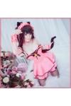 【送料無料】DATE A LIVE デート・ア・ライブ時崎狂三風 ネコ耳付き メイド服 ナイトドレス コスチューム
