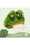 かえるのぺぺ  カエル 人形 ティシュー ケース 可愛いアニマルティッシュカバー  カエルの置物 ケース ボックス