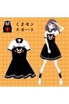 既製品!くまモン kumamon シャツ襟 スカート 萌え萌え風 コスプレ衣装