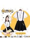 ねこあつめ 吊りスカート+猫Tシャツ 2セット 夏物 人気セット 日常風 コスチューム