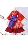 銀魂 神楽 かぐら 掛け軸 神楽 着物 桜プリント コスプレ衣装