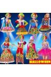 ハロウィン・Halloweenキャンディピエロ ハロウィン 仮装 衣装 コスプレ コスチューム 大人用 ピエロ服 女性用 コスプレ衣装