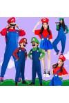 マリオとルイージ 赤スーパーマリオ  緑 ルイージ  ハロウィンコスチューム 衣装親子装 パーティーグッズ コスチューム