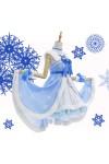 lovelive sunshine ラブライブ!サンシャイン!! 国木田花丸 雪遊び編 覚醒後 ドレス 可愛い 青と白のドレス コスプレ衣装