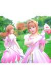 カードキャプターさくら 木之本桜 さくら ピンク+白 天使服