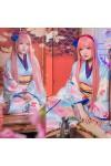 vocaloid ボーカロイド 巡音ルカ 和風柄 着物 和服 コスプレ衣装 花火大会 夏日祭 コスプレ衣装