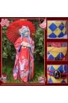 VOCALOID ボーカロイド 初音ミク MIKU 着物 刺繍豪華版 鶴車柄 着物 スプレ衣装