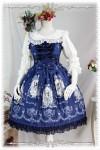 プリントワンピース ロリータドレス Lolita JSK 3色選択 高品質 豪華