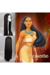 コスプレウィッグ Disney Pocahontas ディズニー ポカホンタス インデアン姫  ブラックウィッグ