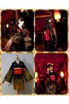 VOCALOIDシリーズ派生 「結んで開いて羅刹と骸」の女の子 コスプレ衣装 和服 着物