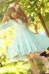 七分袖メイド服 優雅なロリータワンピース ロリータファッション