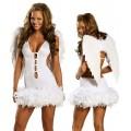 ホワイト セクシー  天使 マラボー コスチューム衣装