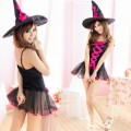 小悪魔系 ブラック ポリエステル 魔女 コスチューム 2点セット衣装