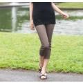 クロップドパンツ S M L LLサイズ 7分丈 パギンス ブラック 夏ボトムがかわいいウエストゴムのレディースパンツ 股上が深いクロップドパンツ