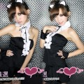 セクシーコスプレ衣装 キャットガール ネコ耳 コスチューム ブラック制服 ユニフォーム