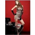 セクシーヒョウ柄ドレス コスプレ衣装 コスチューム