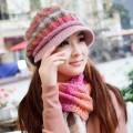 カシミヤ帽子+マフラー 女 冬 レディース秋冬毛糸帽子韓派ファッション