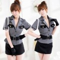 グレー ポリエステル 警察官制服 4点セット衣装
