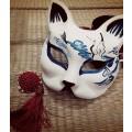 和風 狐のお面(きつねのおめん)覆面/マスク/仮面 コスプレ道具小物