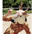 イタズラマスク 動物風マスク パーティー 動物仮面・マスクアニマルマスク ダークホース 馬マスク かぶりもの グッズ 馬書