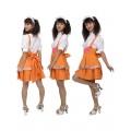 Cosplayオレンジメイド服 サスベンダーコスチューム衣装
