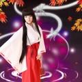 【受注生産】犬夜叉 桔梗(ききょう) 巫女服 コスプレ衣装 犬夜叉 コスプレ衣装
