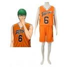 黒子のバスケ 秀徳高校服 緑間真太郎 橙色6号 コスプレ衣装