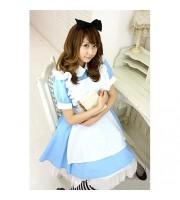 Alice'sドレス衣装 色:水色 サイズ:M/BIG アリス ドレス alice in wonderland