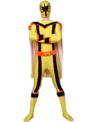 イェロー スパンデックス ライクラ 戦闘員 タイツ 全身 タイツ衣装