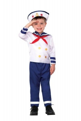 海員海軍セーラー制服 ハロウィン 衣装 仮装 子供用 ハロウィン コスチューム コスプレ(男の子) 水兵コスプレ