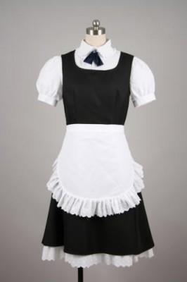 オリジナル★メイド服 コスチューム★ミニスカート ブラック衣装