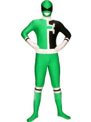 グリーンとブラック ライクラ スパンデックス 戦闘員 全身タイツ衣装