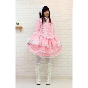 マリアドレスピンク衣装 サイズ:M/BIG 色:ピンク