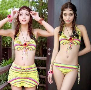 水着 レディース タンキニ 胸元リボン フリル付きかっこかわいいタンキニ水着