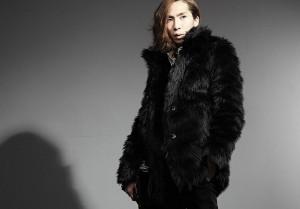 2013新作 ファーコート メンズ ホワイト/ブラック