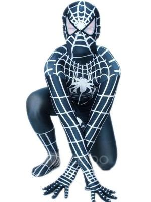ブラック ライクラ スパンデックス スパイダーマン 全身タイツ衣装