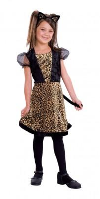 ハロウィン衣装 子供用 ガール ヒョウ柄 ネコ コスチューム