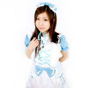 Alice'sデコレーションドレス衣装 色:水色 サイズ:M