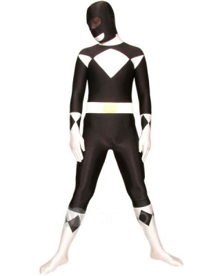 ブラックとホワイト ライクラ スパンデックス 戦闘員 全身タイツ衣装