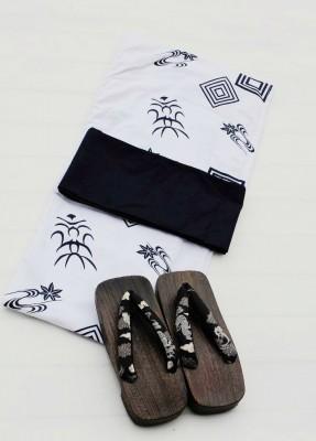 新品定番無地感男物浴衣 メンズ ゆかた 男浴衣+角帯+履物の3点セット