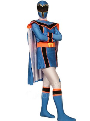 ブルー スパンデックス ライクラ 戦闘員 全身タイツ衣装