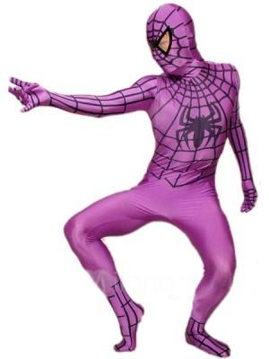 ブルー ライクラ スパンデックス スパイダーマン 全身タイツ衣装