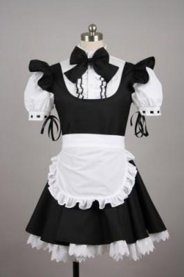 メイド服 コスチューム ミニスカート ブラック コスプレ衣装