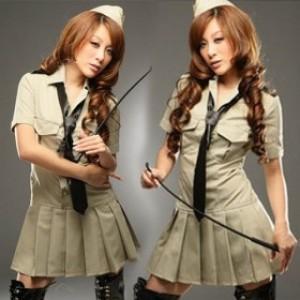 セクシー風 ポリエステル 警察官制服 3点セット衣装
