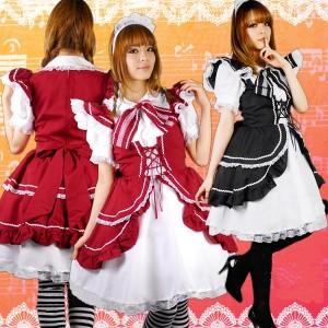 ふわふわフリル乙女ゴスロリワンピース M/L衣装