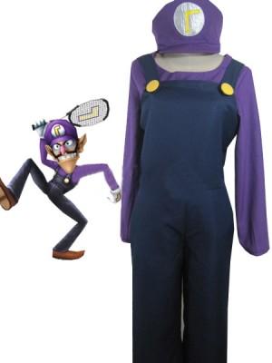 コスプレ衣装販売最高級スーパーマリオブラザーズワルイージ衣装 まりお